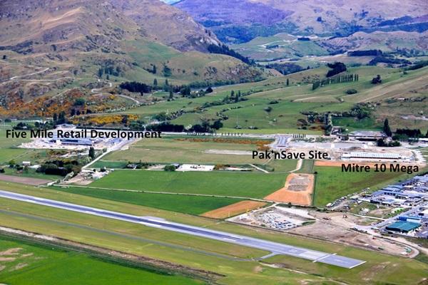 aerial view of Frankton Flats retail development, November 2015