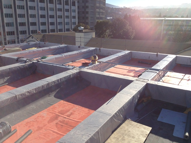 This Complex Design And Build Project Involved The Replacement Of 5,100m²  Of Roof At The Fraser Building, Dunedin Hospital. The Patchwork Of Existing  Roof ...